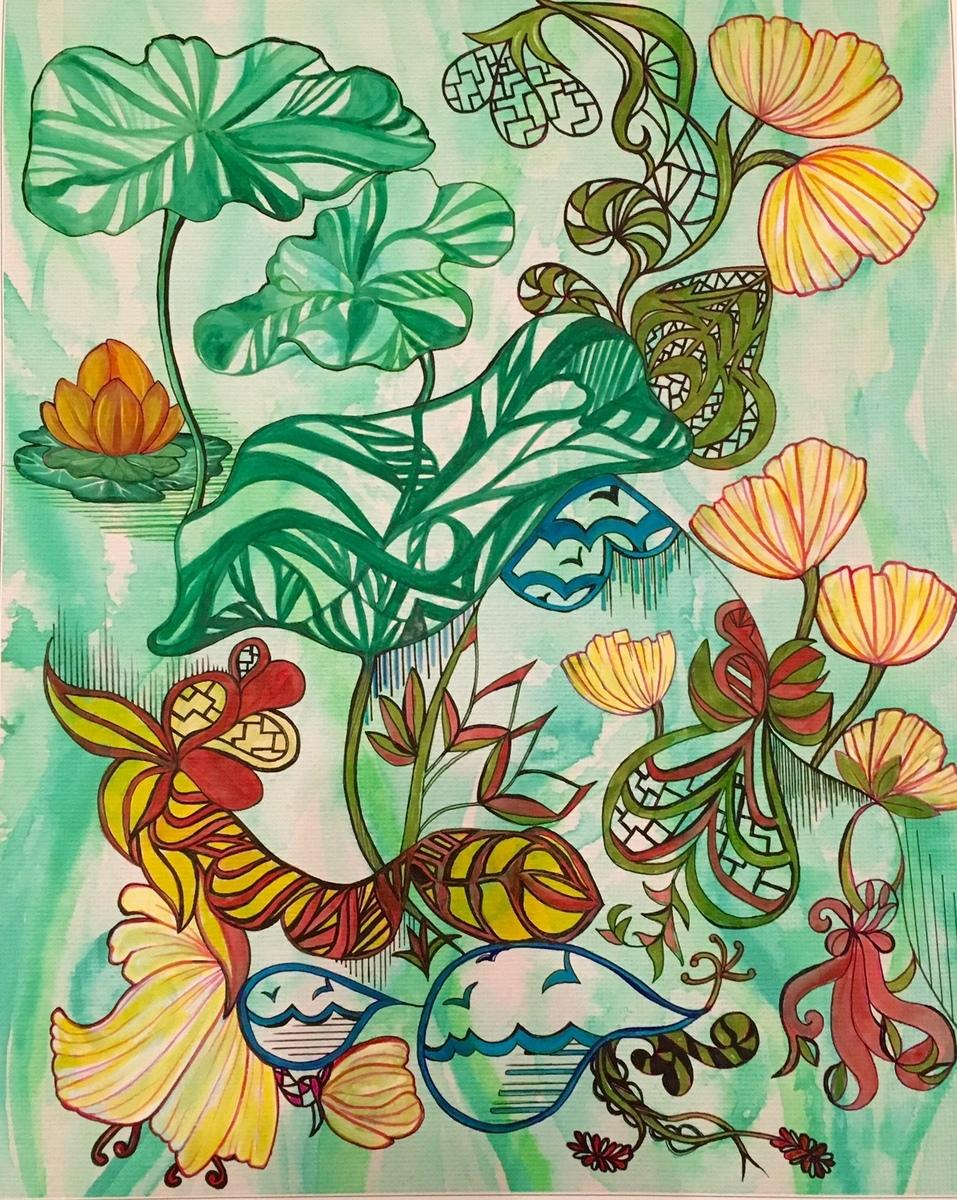 Bedlam of Flowers (Framed)