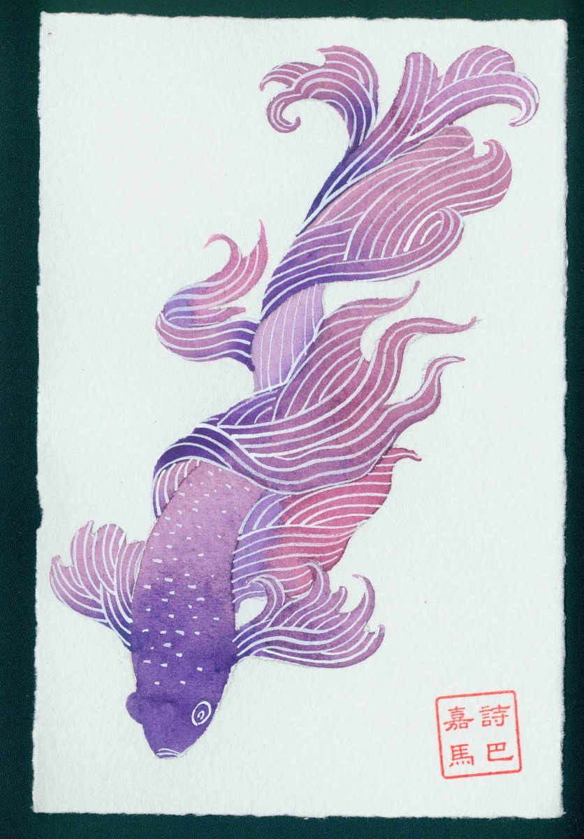 """""""Don't ask me why""""  #3 - Siamese fighting fish series"""
