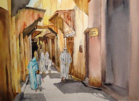 Morning Stroll - Marrakesh, MOROCCO