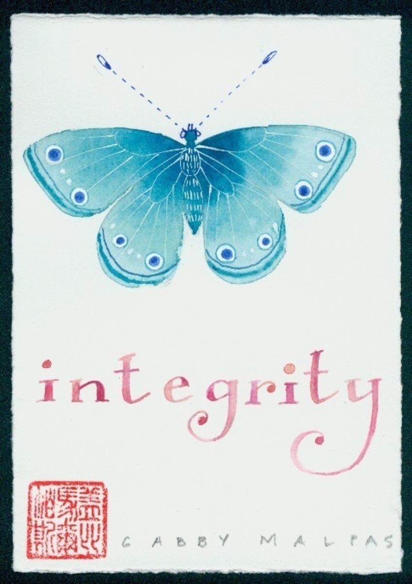 "Words to live by Series ""Integrity"