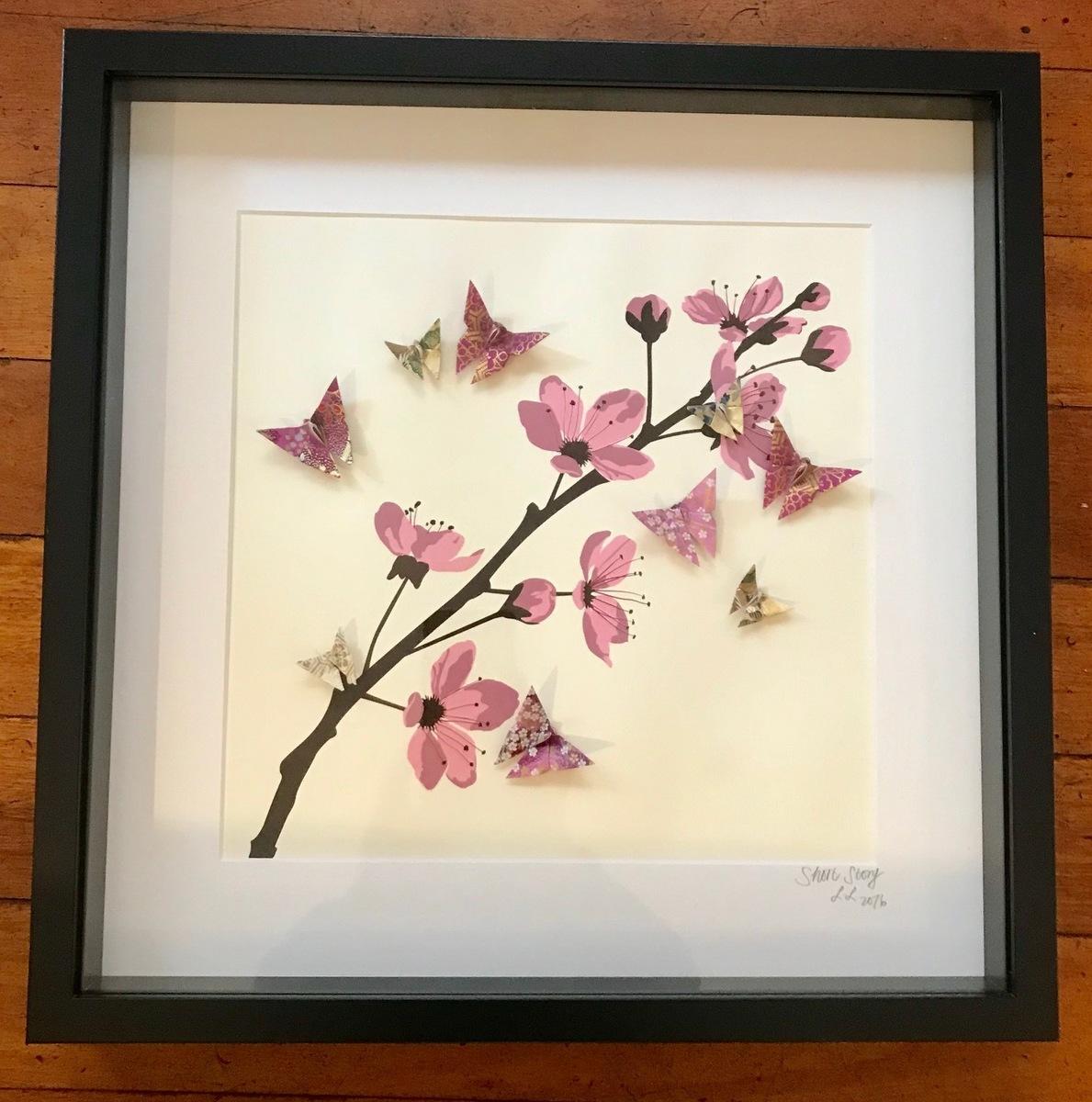 Butterflies #1 (Black Frame)