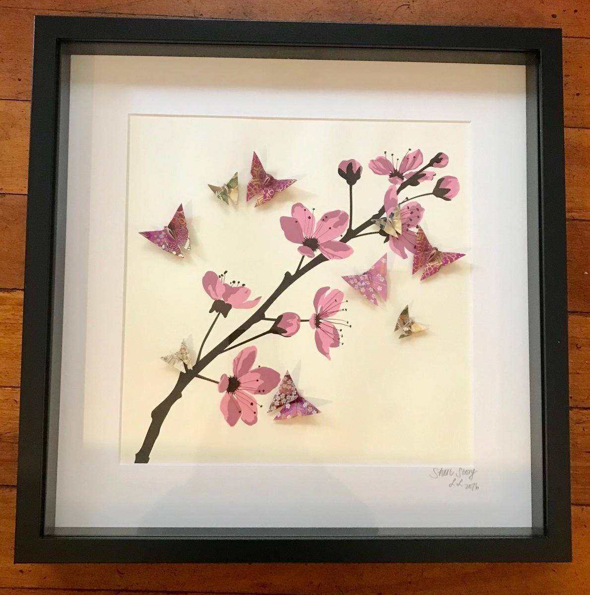 Butterflies #2 (Black Frame)