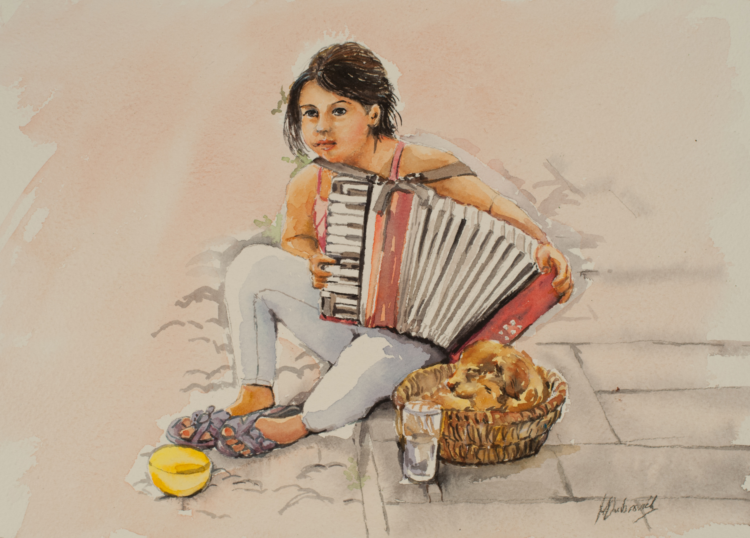 THe Little Busker - The island of Rhodes, GREECE