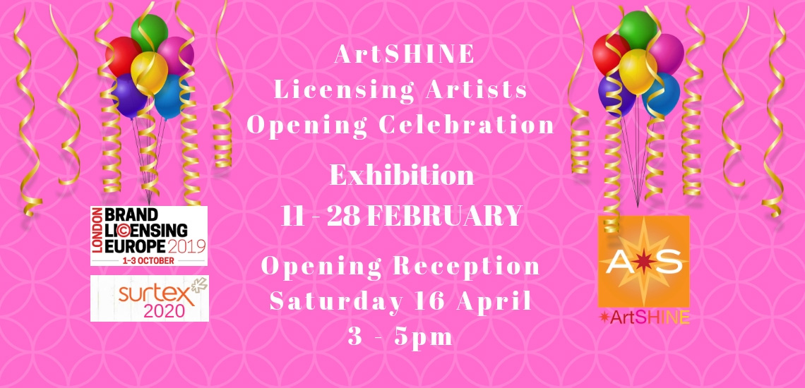 __Exhibition_ ArtSHINE licensing artist Celebration_Feb19B