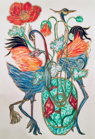 Mating Dance (Framed)