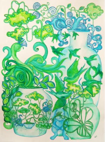Healing Green (Framed)