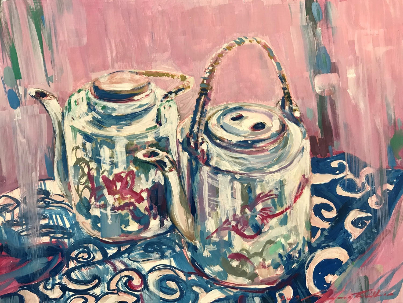 Two Funky Teapots