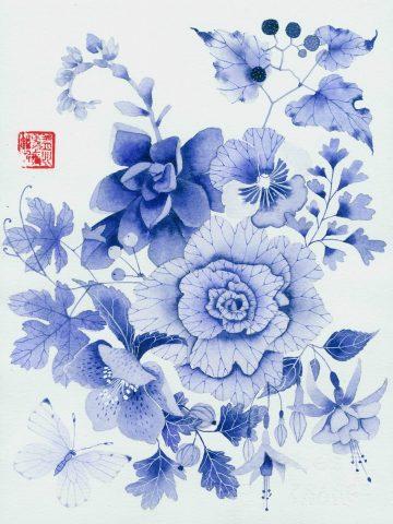Blue floral 2