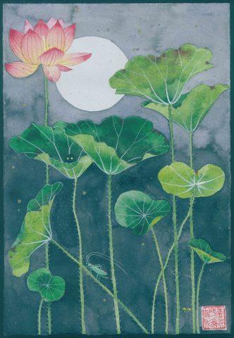 Cursed gardens: lotus (unframed)