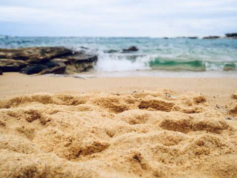 Sand up close